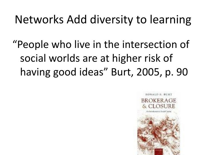 Networks Add diversity to learning