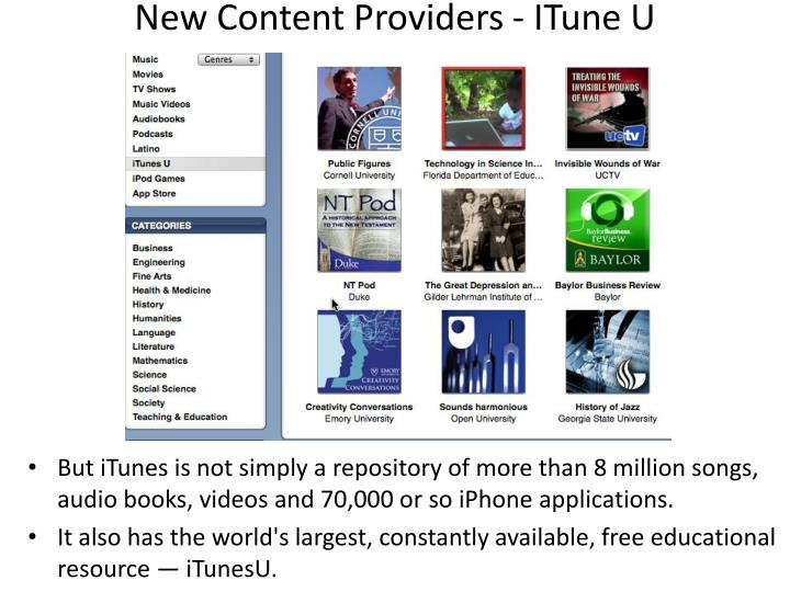 New Content Providers -