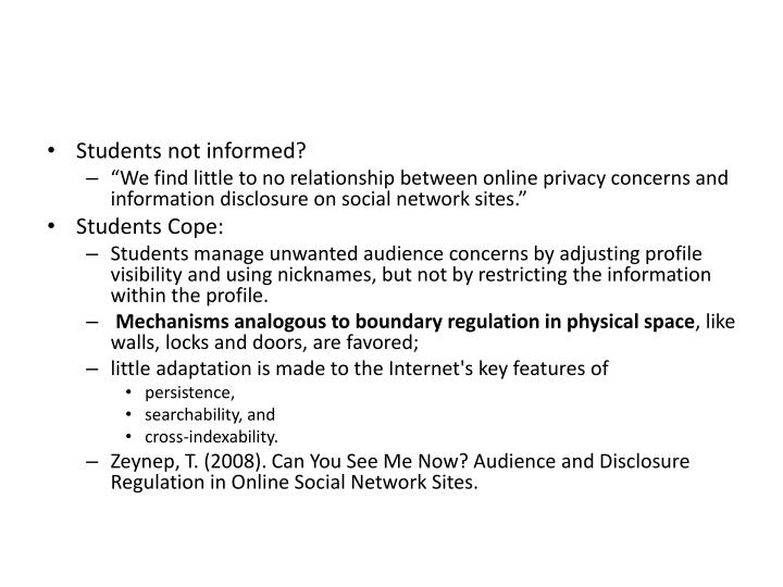 Students not informed?