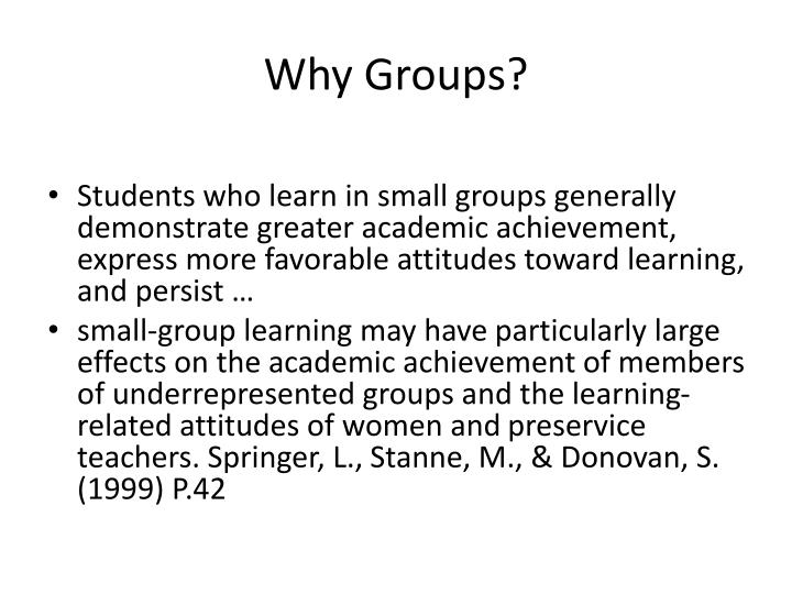 Why Groups?
