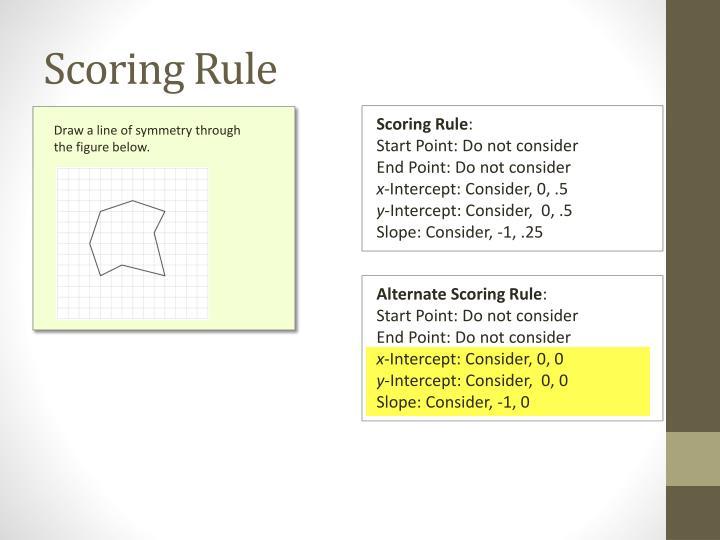 Scoring Rule