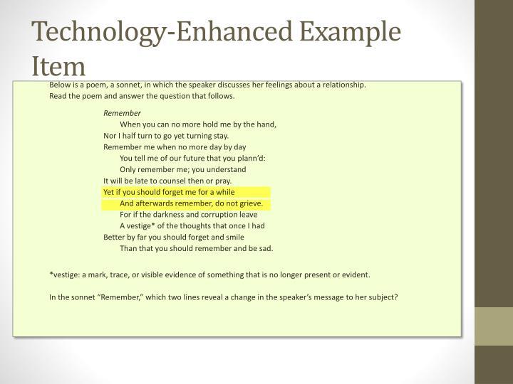 Technology-Enhanced Example Item