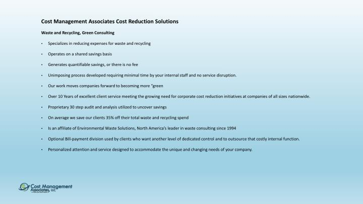 Cost Management Associates