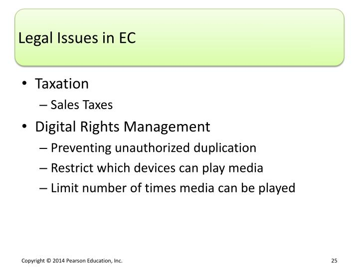 Legal Issues in EC