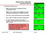 single sensor calibration procedure part 3