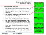 single sensor calibration procedure part 6