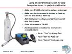 using ds 400 docking station for daily bump check and or periodic calibration1