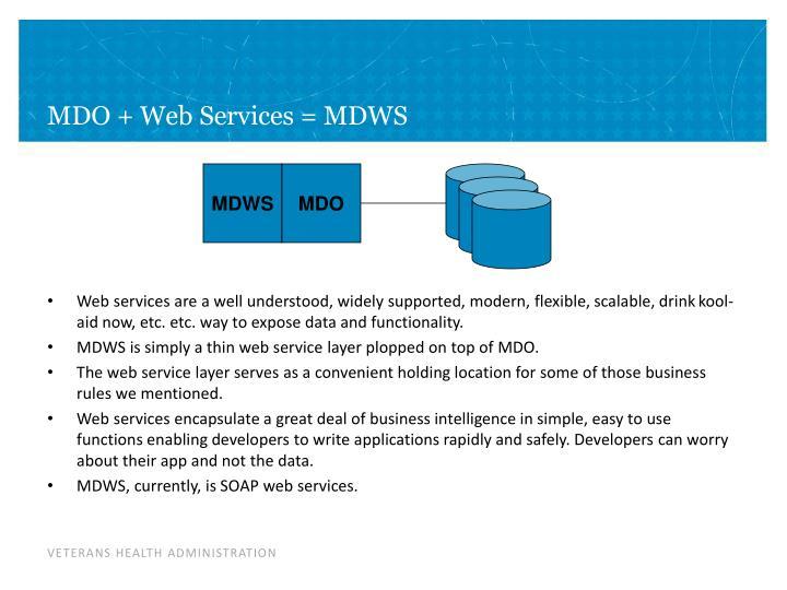 MDO + Web Services = MDWS