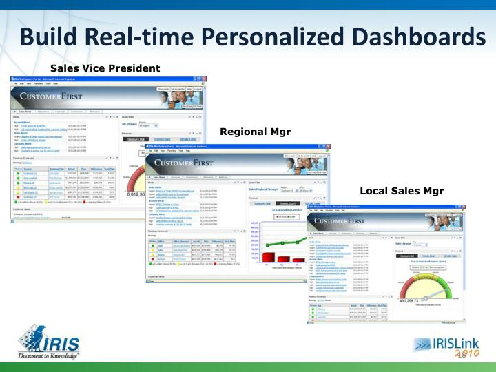 Build Real-time Personalized Dashboards