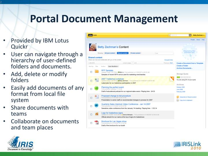 Portal Document Management