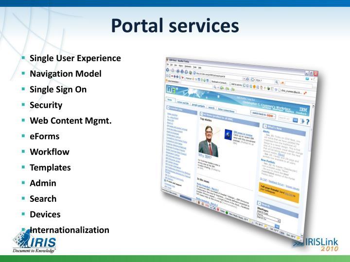 Portal services