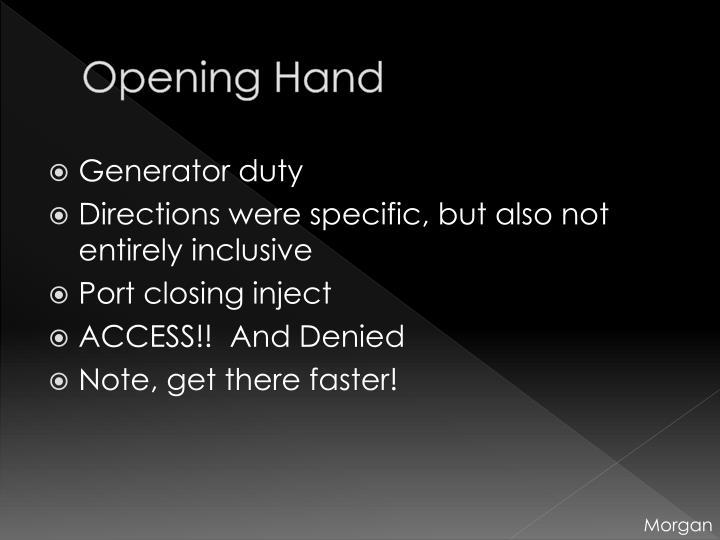 Opening Hand