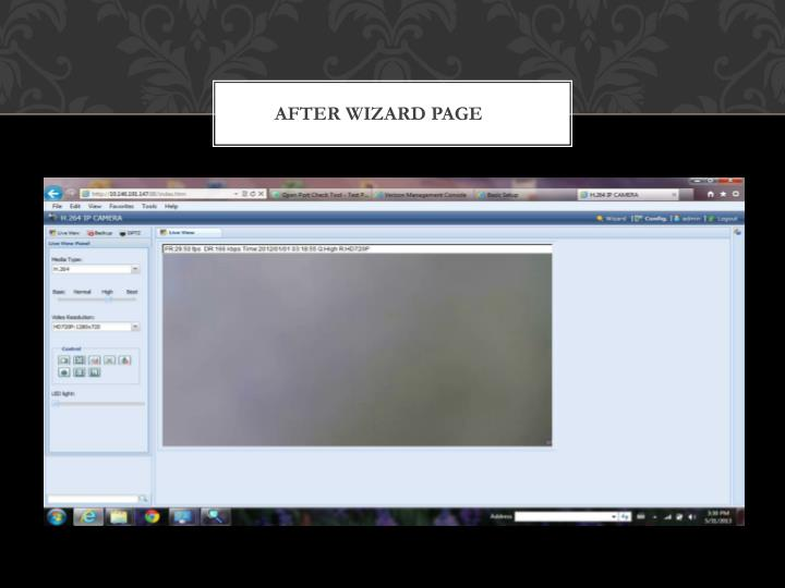 After Wizard page