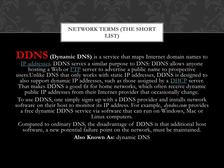 Network Terms (The Short List)