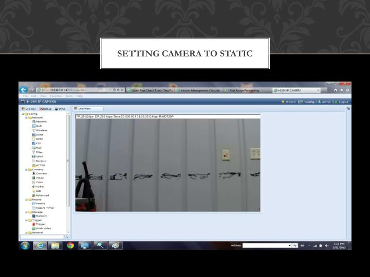Setting camera to STATIC