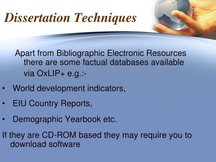 Dissertation Techniques