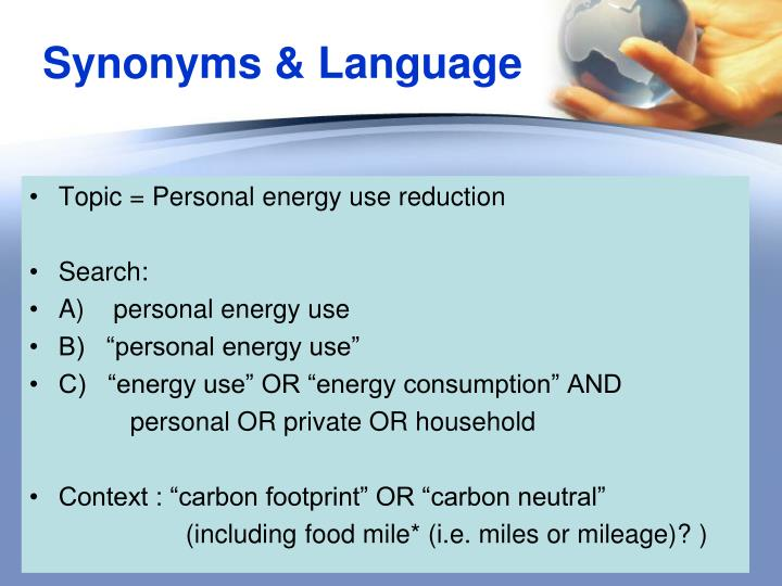 Synonyms & Language