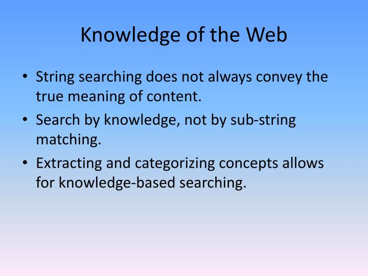 Knowledge of the Web