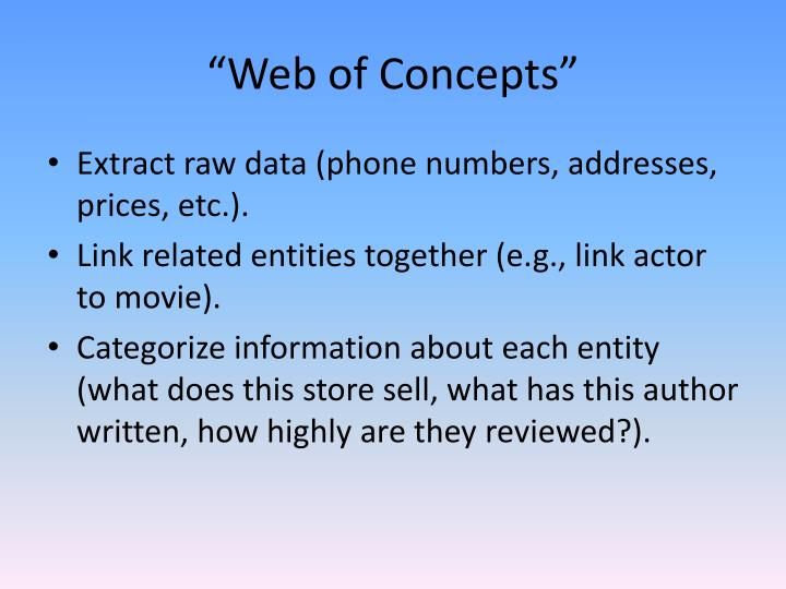 """Web of Concepts"""
