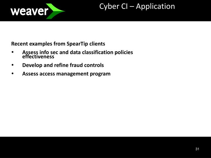 Cyber CI – Application