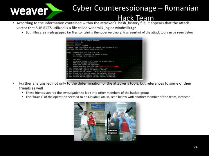 Cyber Counterespionage – Romanian Hack Team