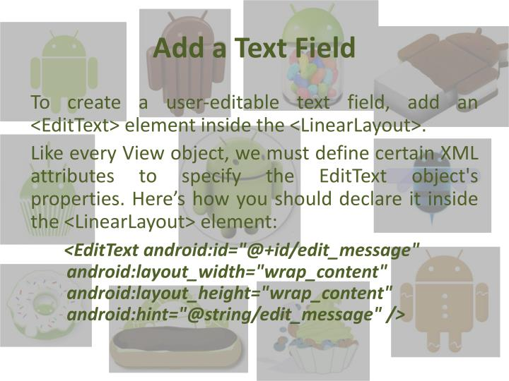 Add a Text Field