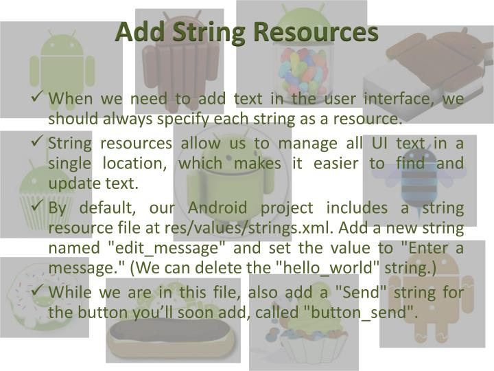 Add String Resources