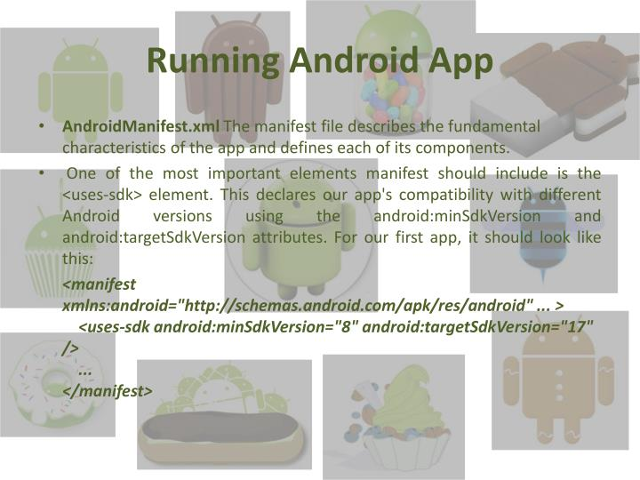 Running Android App