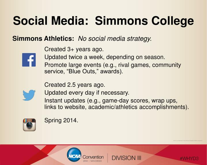 Social Media:  Simmons College