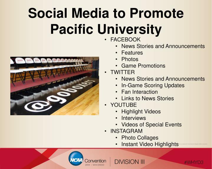 Social Media to Promote