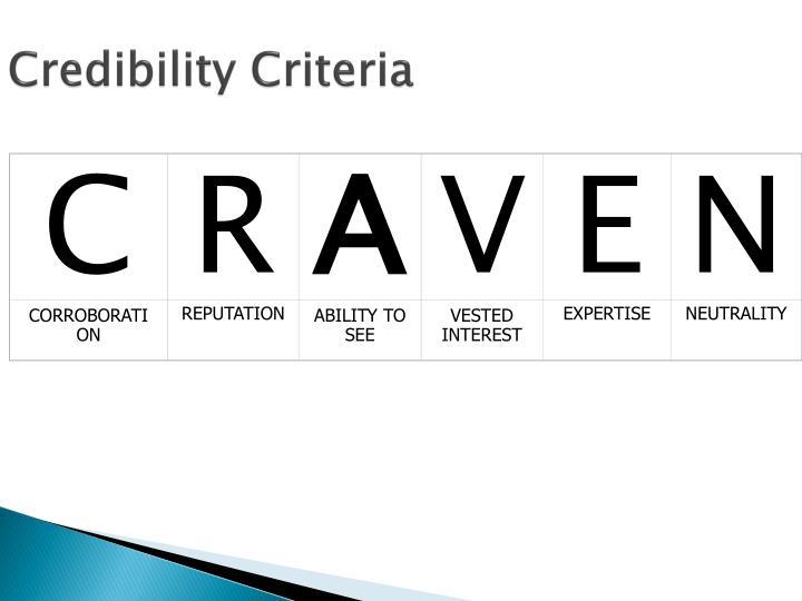 Credibility Criteria