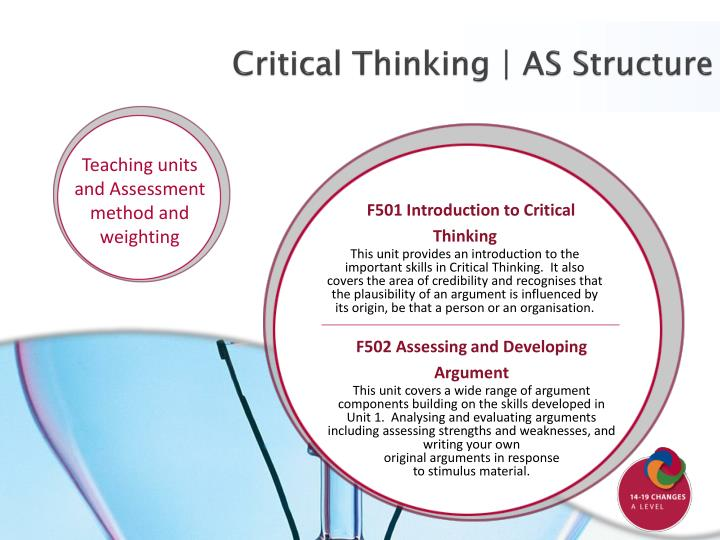 Critical Thinking | AS Structure