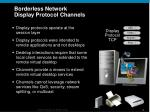 borderless network display protocol channels