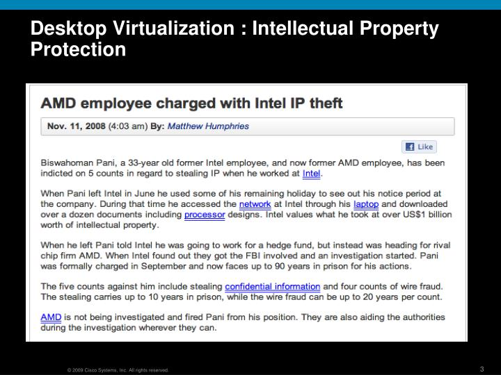 Desktop virtualization intellectual property protection