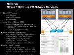network nexus 1000v per vm network services