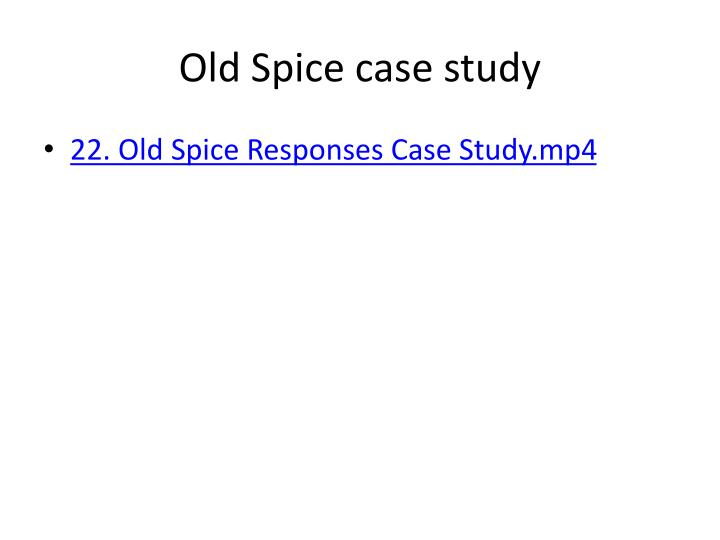 Old Spice case study