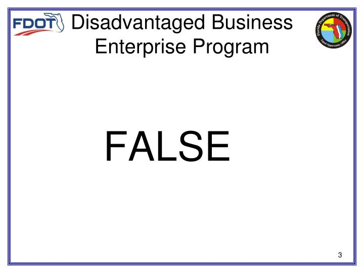 Disadvantaged Business Enterprise Program