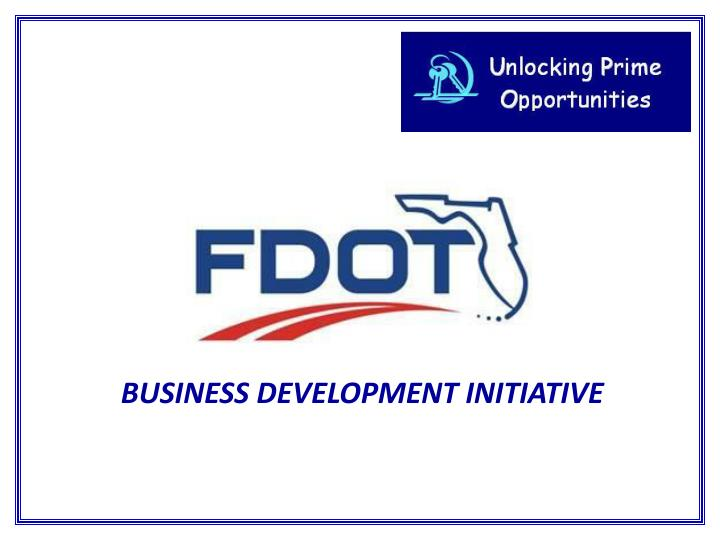 BUSINESS DEVELOPMENT INITIATIVE