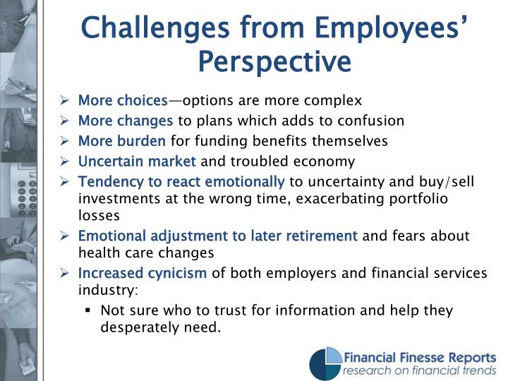 Challenges from Employees' Perspective