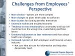 challenges from employees perspective