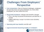 challenges from employers perspective
