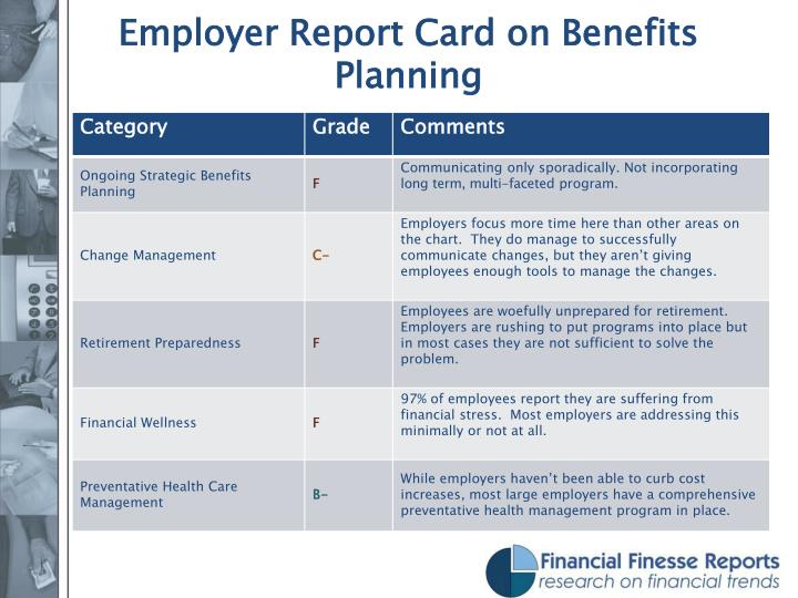 Employer Report Card on Benefits Planning