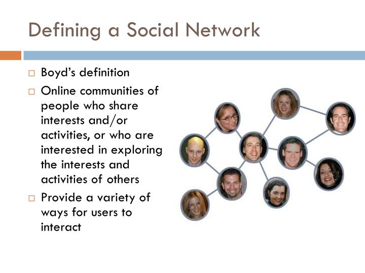 Defining a Social Network