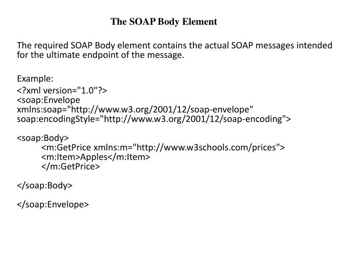 The SOAP Body Element