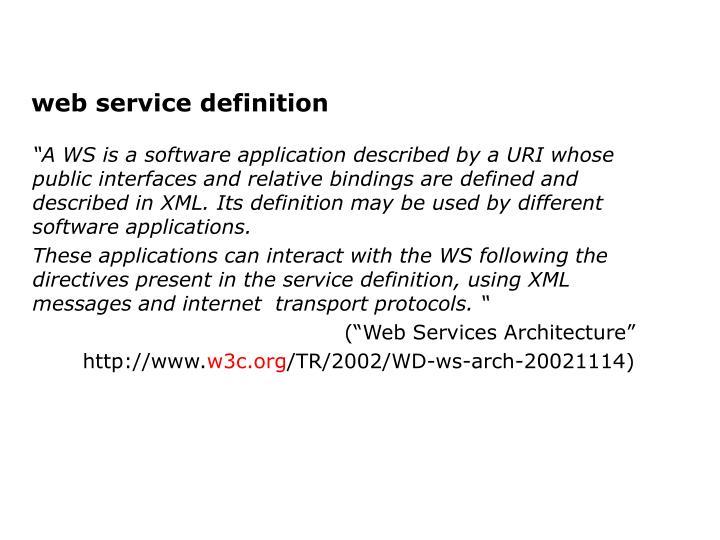 web service definition