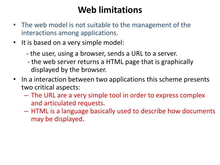 Web limitations