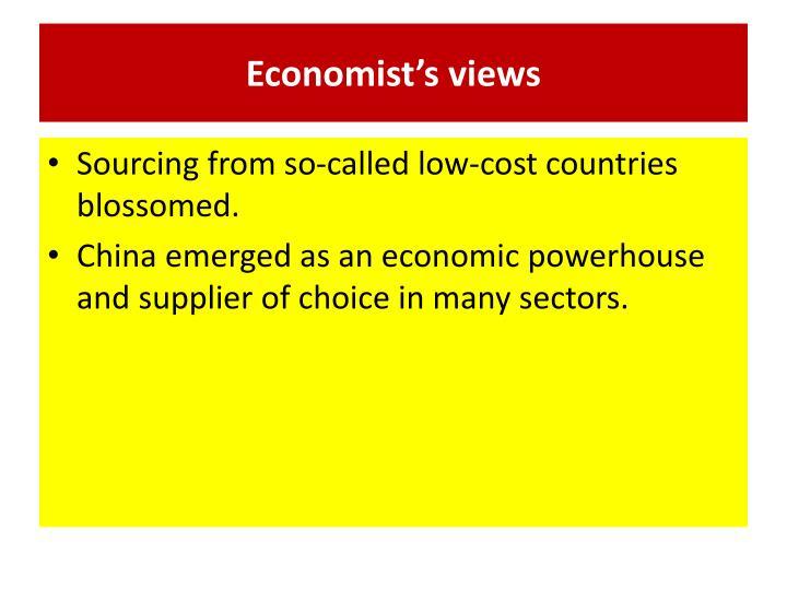 Economist's views