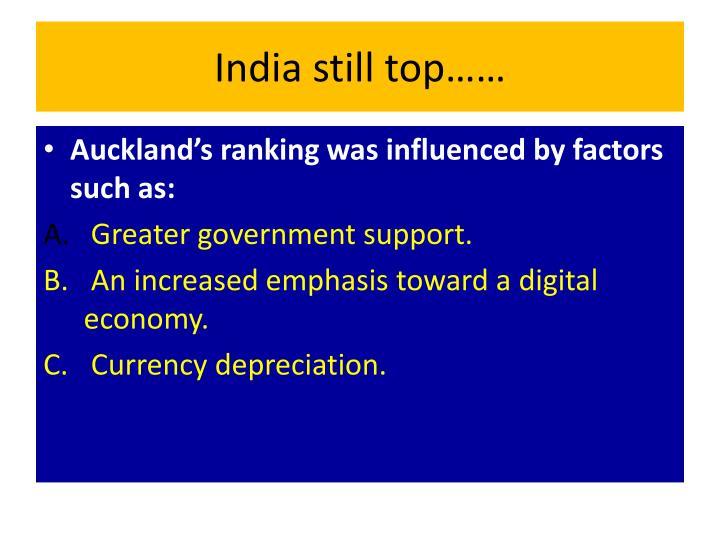 India still top……