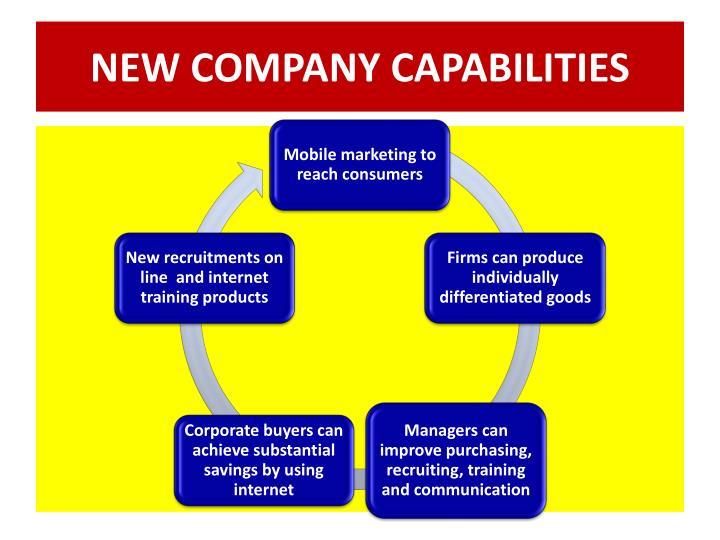 NEW COMPANY CAPABILITIES