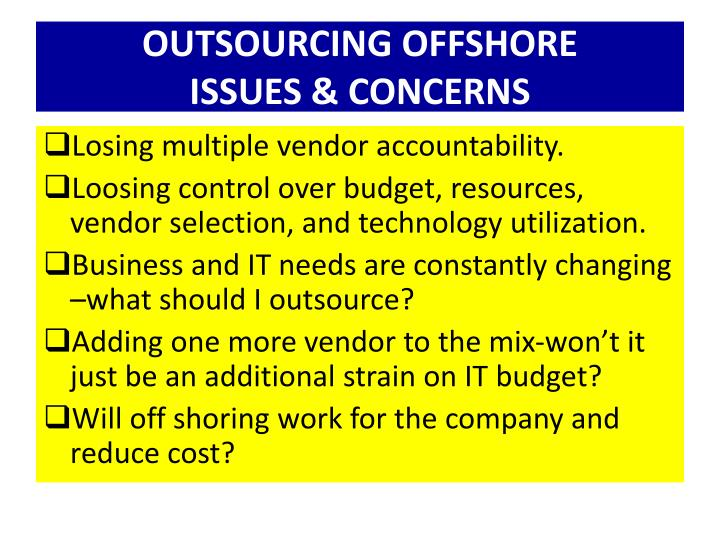 OUTSOURCING OFFSHORE